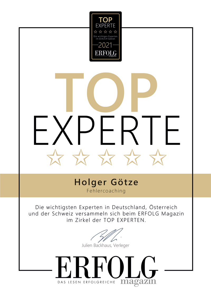 Top Experte (Siegel) - Holger Götze
